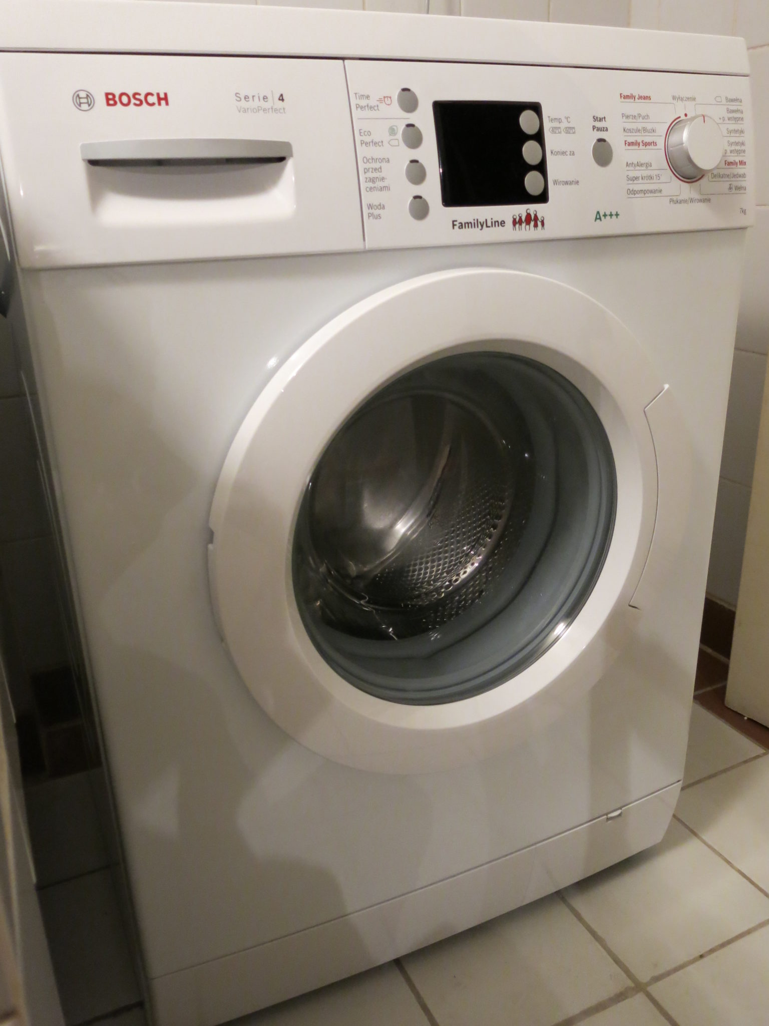 Test pralki Bosch WAE2449FPL Vario Perfect 4 (WAE24441PL) – moje opinie