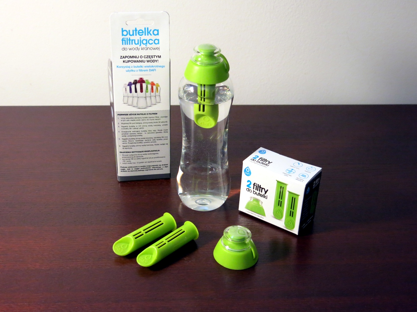 Dafi Butelka z 1 filtrem 0.5L Zielona
