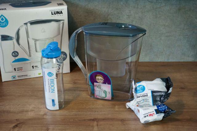Dzbanek filtrujący Dafi Luna z wkładami filtrującymi i bidonem